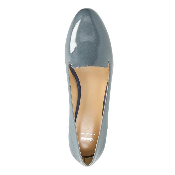 Kožená dámská obuv ve stylu Loafers bata, modrá, 518-9600 - 19