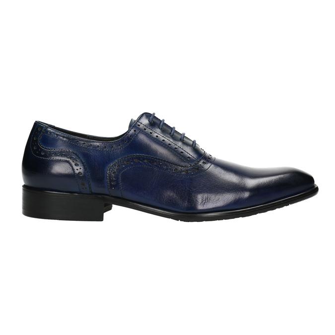 Modré kožené Oxford polobotky bata, modrá, 826-9822 - 15