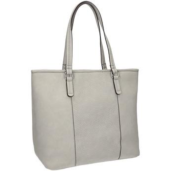 Dámská kabelka s perforovaným detailem bata, šedá, 961-2711 - 13