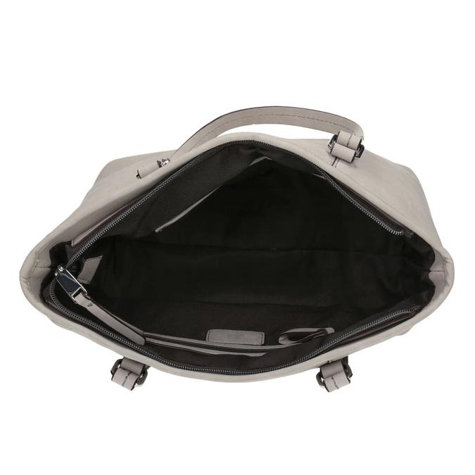 Dámská kabelka s perforovaným detailem bata, šedá, 961-2711 - 15