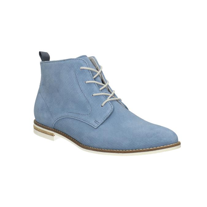 Kožená obuv nad kotníky bata, modrá, 593-9602 - 13