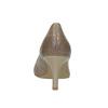 Dámské lodičky s perforací pillow-padding, béžová, 626-2636 - 17