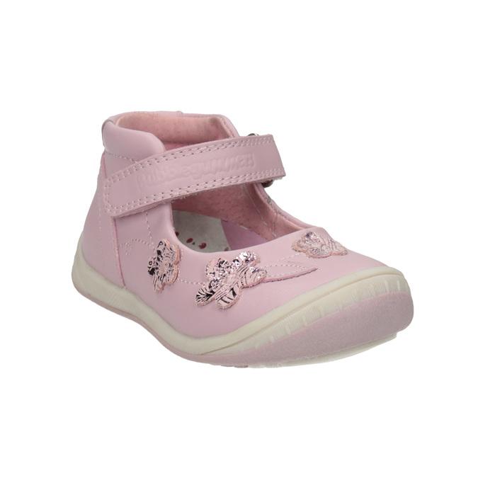 Kožené dětské baleríny bubblegummers, růžová, 124-5600 - 13