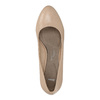Kožené lodičky na nižším podpatku bata, béžová, 626-8637 - 19
