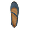 Dámské kožené baleríny s páskem bata, modrá, 526-9620 - 19