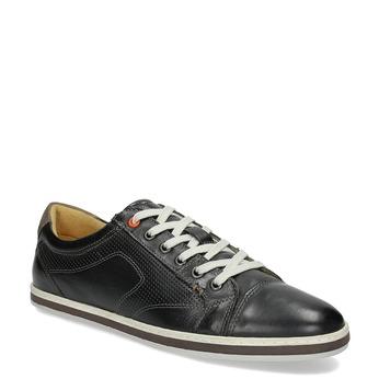 Pánské kožené tenisky bata, černá, 846-6617 - 13
