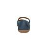 Dámské kožené baleríny s páskem bata, modrá, 526-9620 - 17