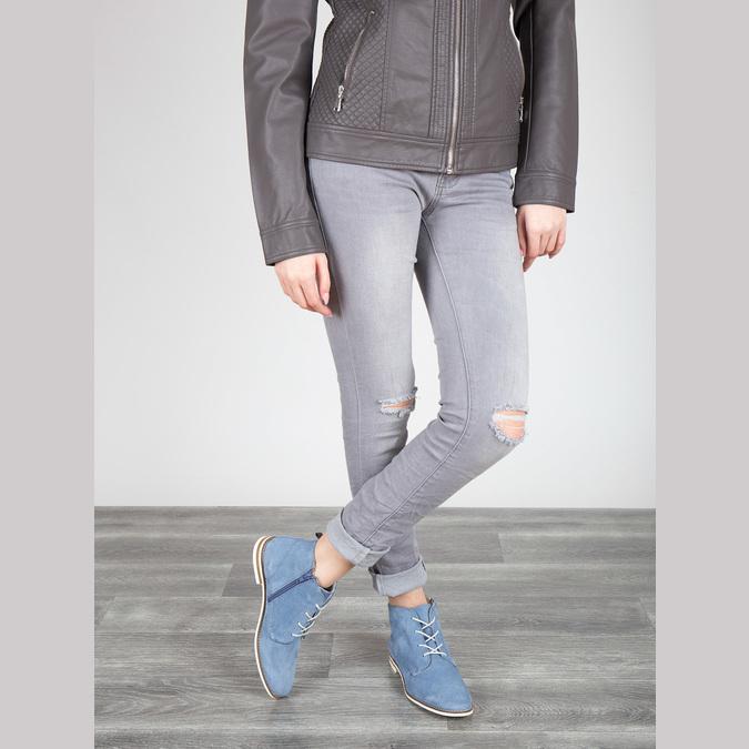 Kožená obuv nad kotníky bata, modrá, 593-9602 - 18
