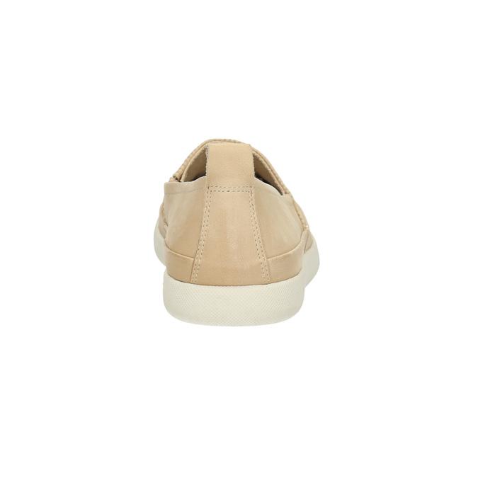 Lehká dámská nazouvací obuv bata, béžová, 516-8601 - 17