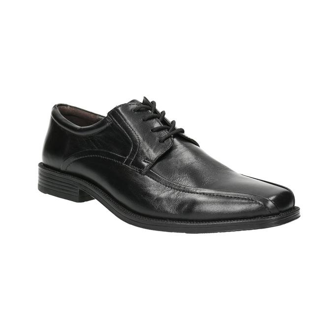 Pánské kožené polobotky bata, černá, 824-6839 - 13