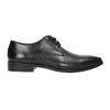 Černé kožené Derby polobotky bata, černá, 826-6804 - 15
