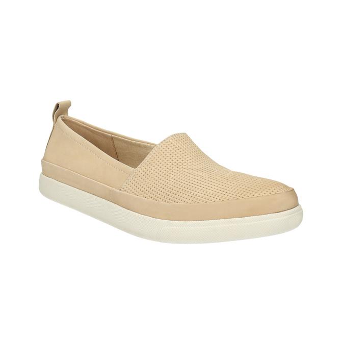 Lehká dámská nazouvací obuv bata, béžová, 516-8601 - 13