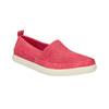 Kožená obuv s perforací bata-light, růžová, 516-5601 - 13