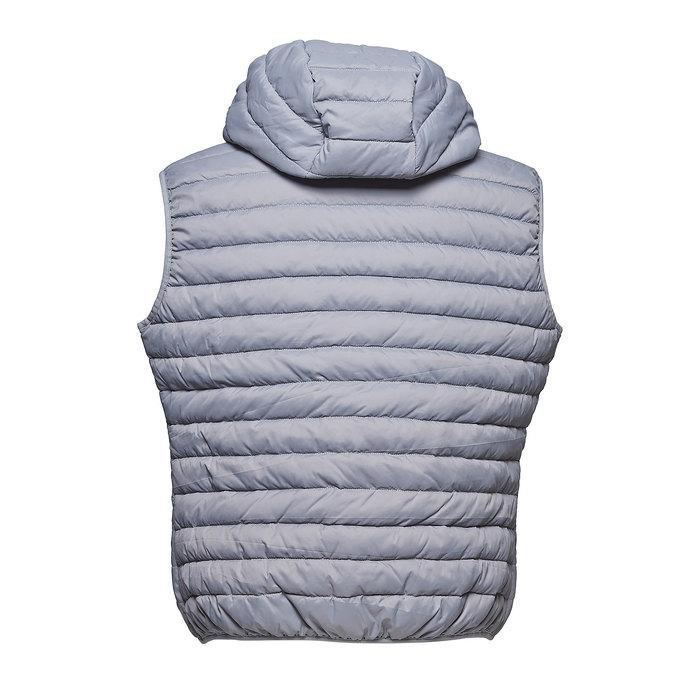 Pánská prošívaná vesta s kapucí bata, šedá, 979-2614 - 26