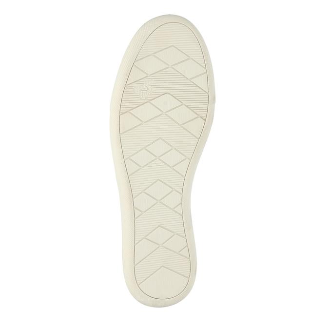 Dámské kožené tenisky s perforací bata, béžová, 526-8618 - 26