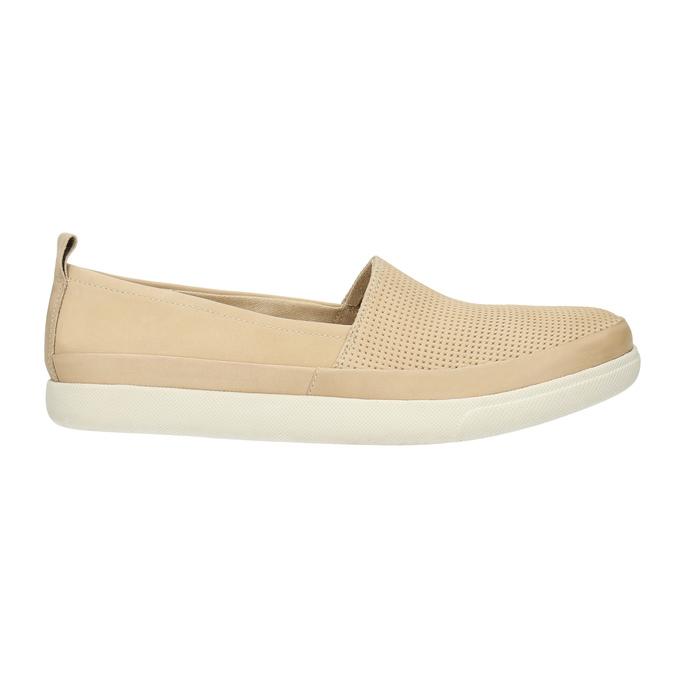 Lehká dámská nazouvací obuv bata, béžová, 516-8601 - 15