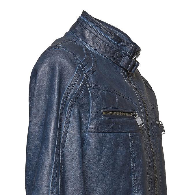 Koženková pánská bunda bata, modrá, 971-9194 - 16