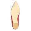 Červené baleríny do špičky bata, 2020-521-5603 - 26