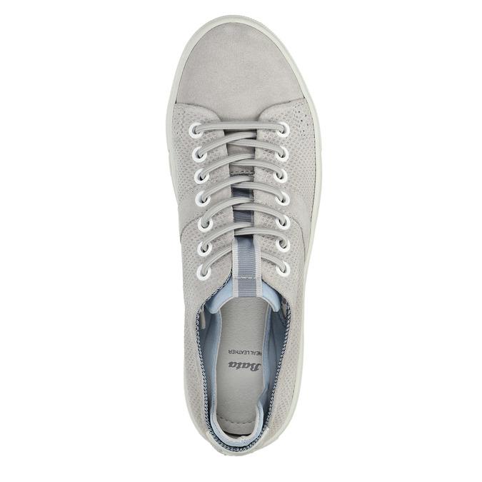Dámské kožené tenisky bata, šedá, 523-2601 - 19