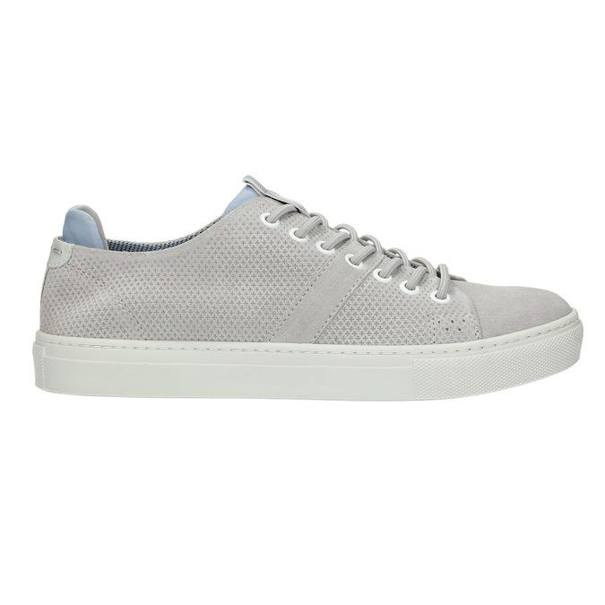 Dámské kožené tenisky bata, šedá, 523-2601 - 15