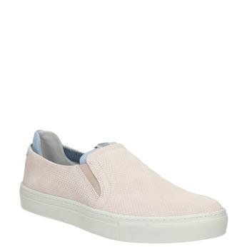 Kožené dámské Slip-on bata, růžová, 516-5600 - 13