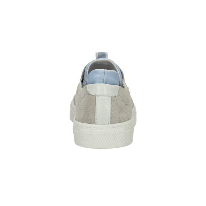 Dámská kožená Slip-on obuv bata, šedá, 516-2600 - 17