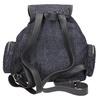 Dámský batoh s kovovými ozdobami bata, modrá, 969-9240 - 19