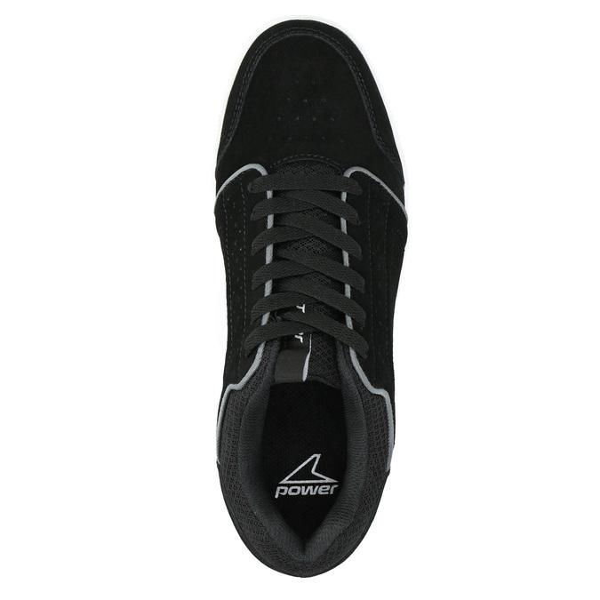 Ležérní kožené tenisky power, černá, 803-6160 - 19