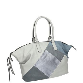 Dámská kabelka v Patchwork stylu bata, šedá, 961-9286 - 13