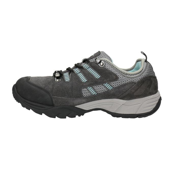 Dámské kožené Outdoor boty power, šedá, 503-2118 - 26