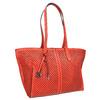 Červená kabelka s perforací gabor-bags, červená, 961-5080 - 13