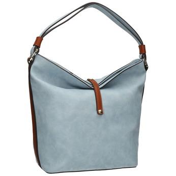 Modrá kabelka v Hobo stylu bata, modrá, 961-9705 - 13