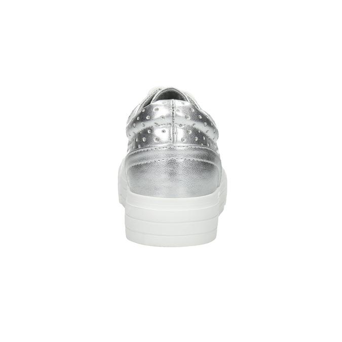 Dámské stříbrné tenisky s perforací north-star, stříbrná, 521-1604 - 17