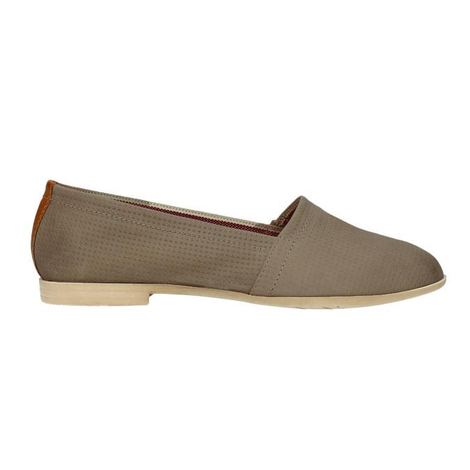 Dámská kožená Slip-on obuv bata, hnědá, 516-2602 - 15