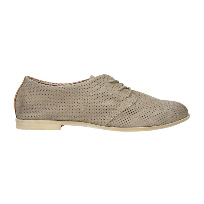 Kožené dámské polobotky bata, šedá, 526-2619 - 15