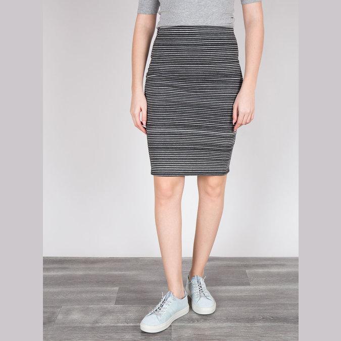Kožené dámské tenisky bata, modrá, 523-9601 - 18