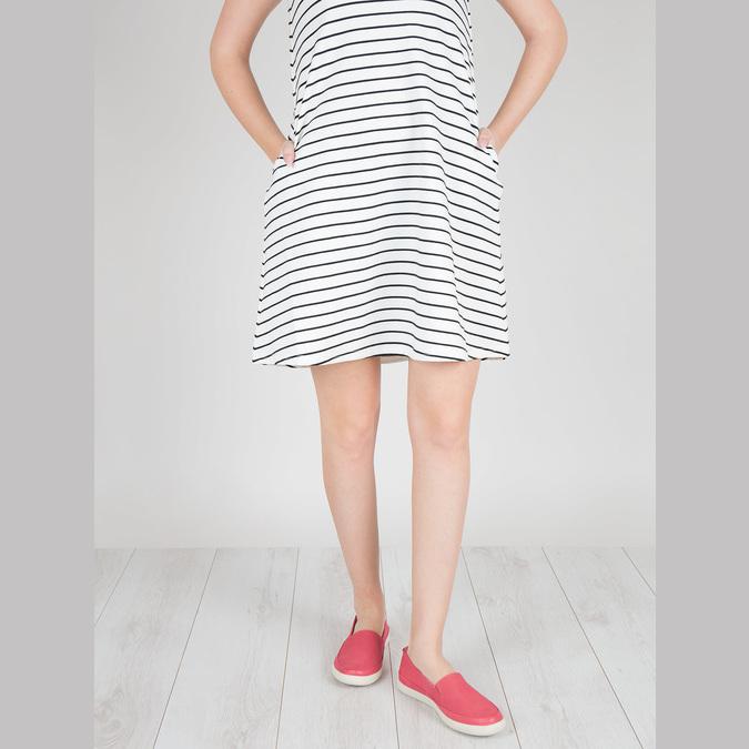 Kožená obuv s perforací bata-light, růžová, 516-5601 - 18