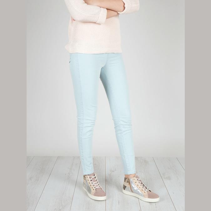 Dámské kožené tenisky bata, růžová, 526-5614 - 18