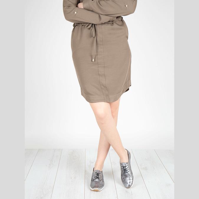 Stříbrné kožené tenisky bata, stříbrná, 526-6633 - 18