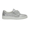 Kožená Slip-on obuv s mašlí bata, stříbrná, 516-2605 - 15