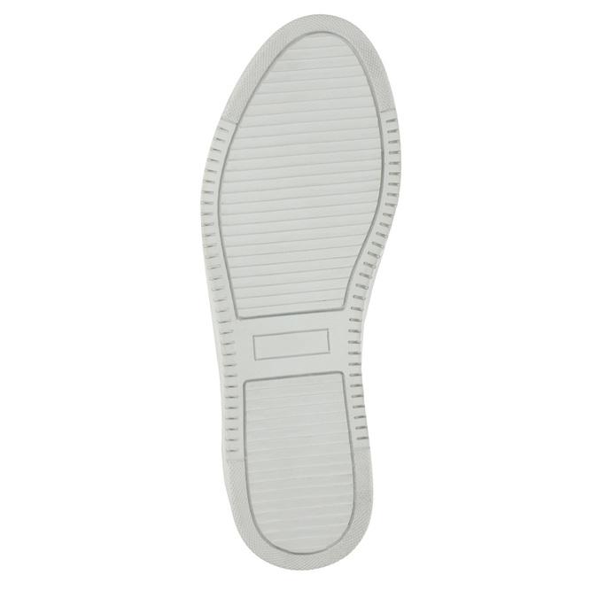 Kožené dámské tenisky bata, stříbrná, 526-1630 - 26