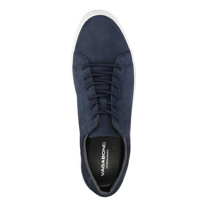 Pánské kožené tenisky vagabond, modrá, 823-9013 - 19