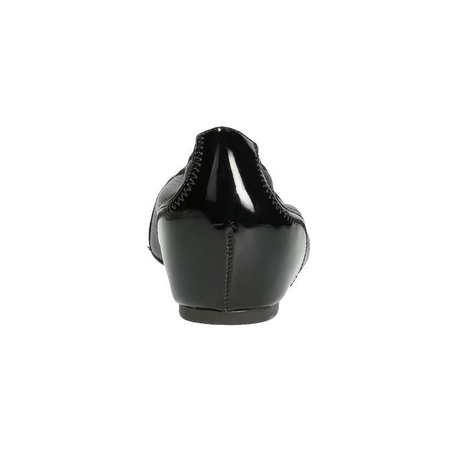 Kožené baleríny s klínovým podpatkem rockport, černá, 524-6120 - 15