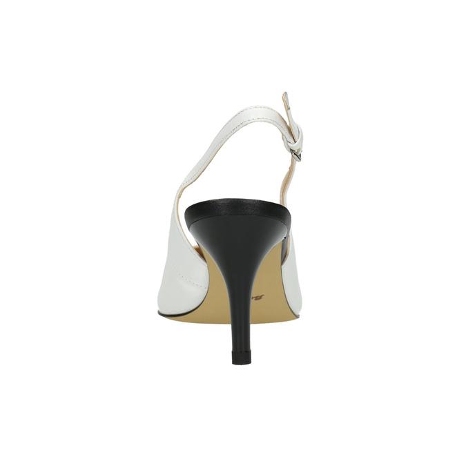 Kožené Sling-back lodičky bata, bílá, 624-1634 - 17