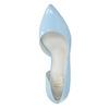 Modré kožené lodičky s vykrojením insolia, modrá, 728-9635 - 19