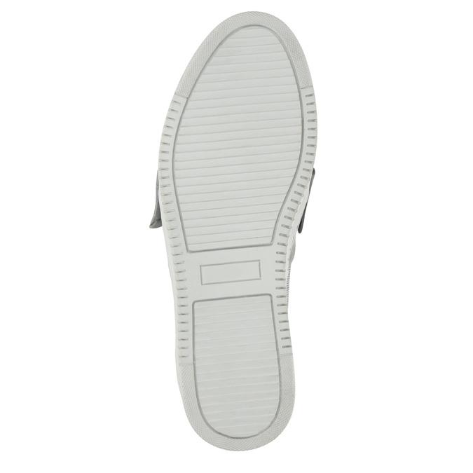 Kožená Slip-on obuv s mašlí bata, stříbrná, 516-2605 - 26