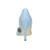 Modré kožené lodičky s volnými boky insolia, modrá, 728-9636 - 17