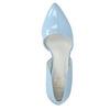 Modré kožené lodičky s volnými boky insolia, modrá, 728-9636 - 19