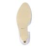 Bílé kožené lodičky s vykrojením insolia, bílá, 728-1637 - 26