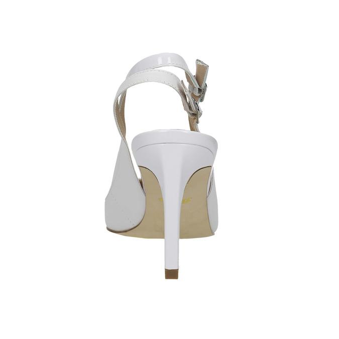 Bílé kožené lodičky s volnou patou insolia, bílá, 724-1634 - 17